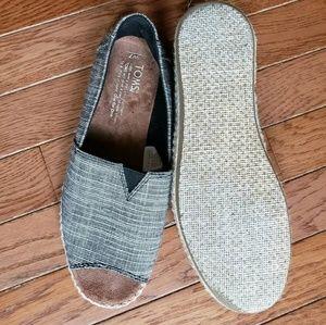 Toms Shoes - Toms Alpargata Open Toe Flat Espadrille Black 7
